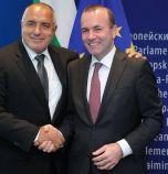 Борисов към Манфред Вебер: Ние сме истинската алтернатива на популистите